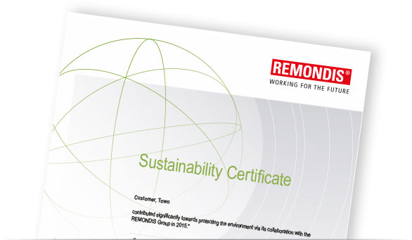 Sustainability Certificate // REMONDIS Sustainability